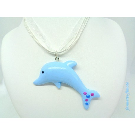 """Collier Fimo """"Dauphin"""""""