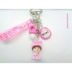"Porte clé Enfant Fimo ""Kiki"""