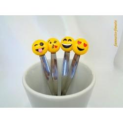 Lot de 4 Cuillères Fimo Emoticônes