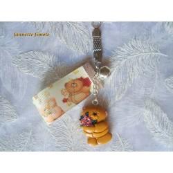 """Porte clé Enfant Fimo """"Nounours N°2"""""""