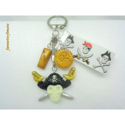 Porte clé Fimo Pirate