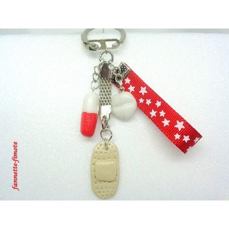 Porte clé Fimo Infirmière N°1