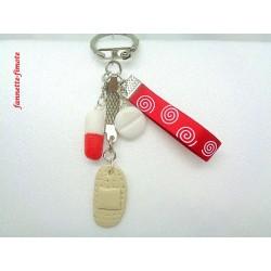 Porte clé Fimo Infirmière N°2