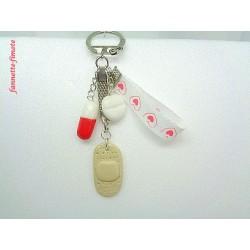 Porte clé Fimo Infirmière N°3