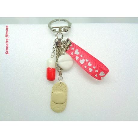 Porte clé Fimo Infirmière N°4