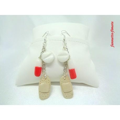 Boucles d'oreilles Fimo Infirmière N°1