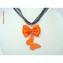 Collier Fimo Noeud + Papillon