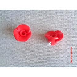 Breloque Fleur Rose Rouge - Vendu à l'unité