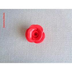 Breloque Fleur Grosse Rose Rouge - Vendu à l'unité