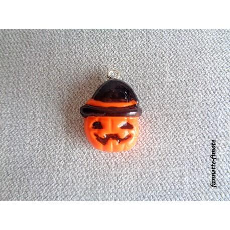 """Breloque Halloween """"Citrouille""""- Vendu à l'unité"""