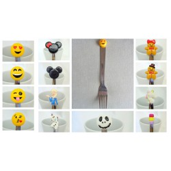 "Fourchette Acier Inoxydable Emoticone ""Love"""