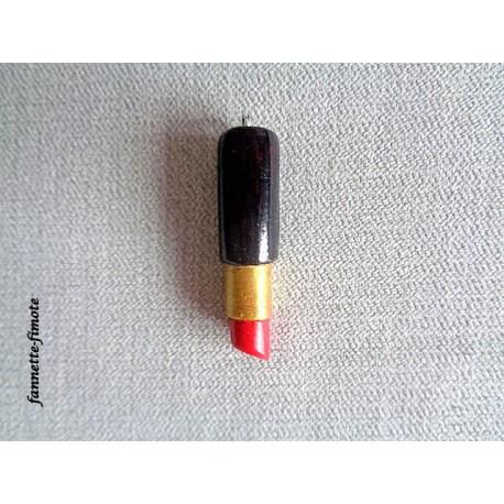 Breloque Fimo Rouge à lèvres - Vendu à l'unité