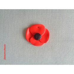 Breloque Fleur Gros Coquelicot - Vendu à l'unité