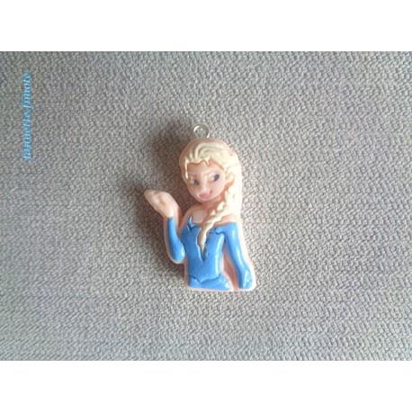 Breloque Enfant  Fimo Elsa Reine des neiges - Vendu à l'unité