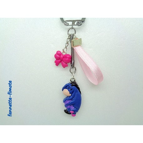 Porte clé Enfant Fimo Bourriquet bleu