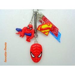 Porte clé Fimo Spider man Marvel