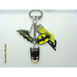 Porte clé Fimo Batman Marvel