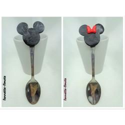 Lot 2 Cuillères Fimo Mickey et Minnie