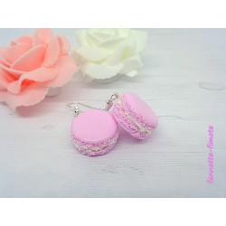 Boucles d'oreilles Fimo Macaron rose