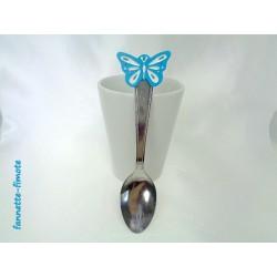 Cuillère Fimo Papillon Bleu
